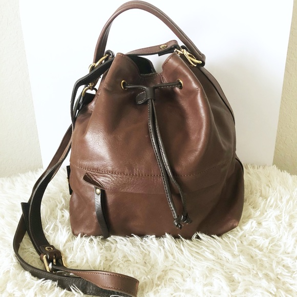 74726db7dfe alberto bellucci Bags   Beautiful Italian Made Brown Leather Bucket ...